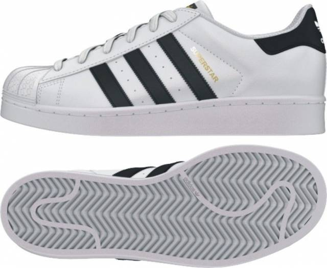 adidas superstar 2 white and black size 4