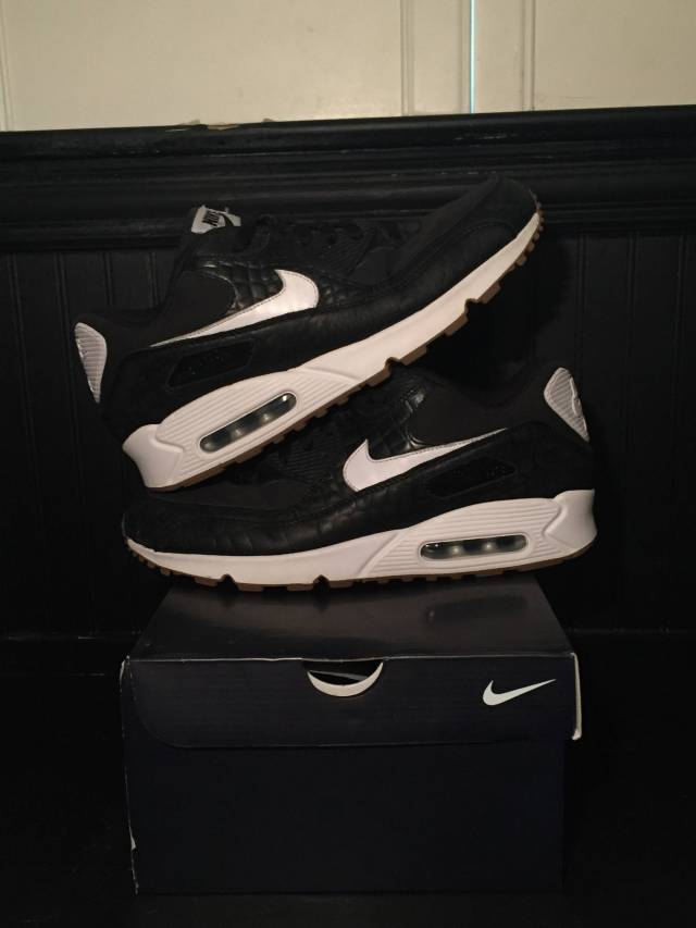 bfb91ec987c Nike Air max 90 ID black crocodile