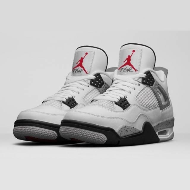 Mens Air Jordan Retro 4 White shoes