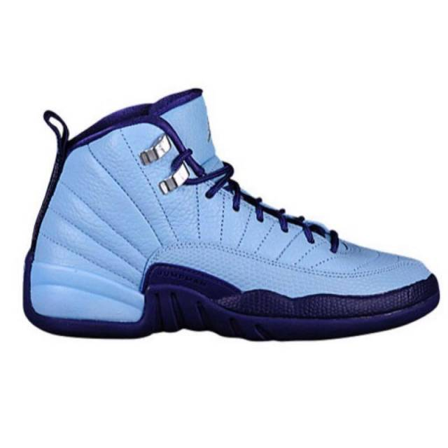 10c327d012eed0 ... Air Jordan 12 GS Hornets Blue Cap Metallic Silver-Dark Purpl ...