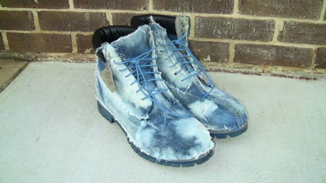 Custom Denim Timberland Boots Kixify Marketplace