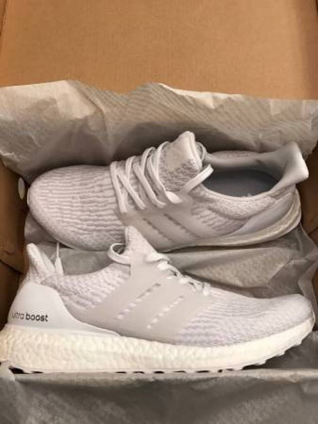 Adidas Ultra Boost 3.0 LTD Grey Leather Cage Size 9.5