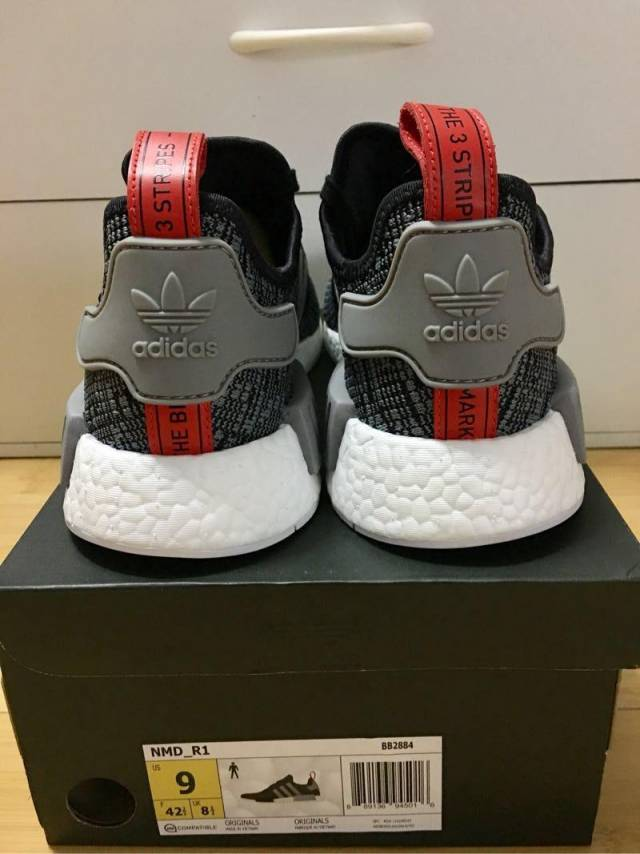 a57d288f2 Adidas NMD R 1 Glitch Camo Core Black Grey Red Men 9 US