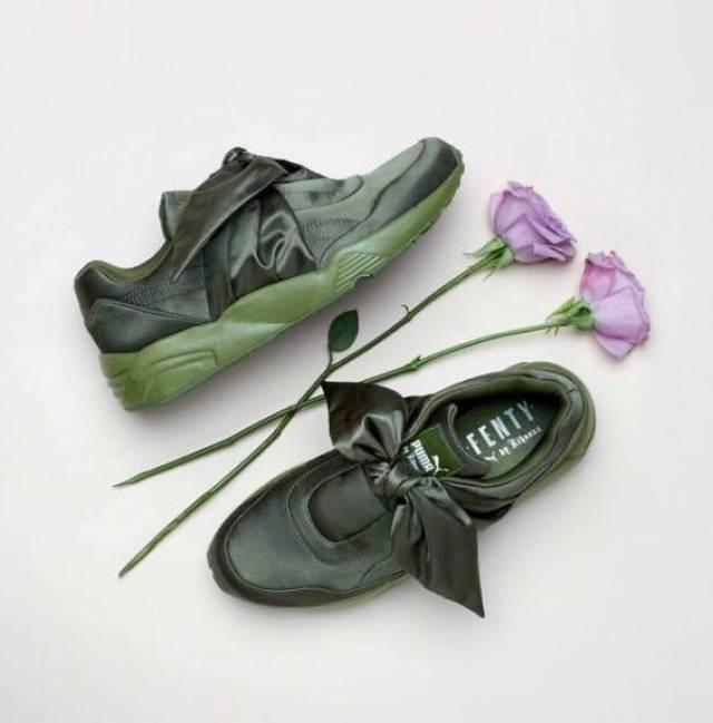 pretty nice bb1be ce04d Puma X Rihanna Fenty Bow Sneakers 'olive Branch' Green ...
