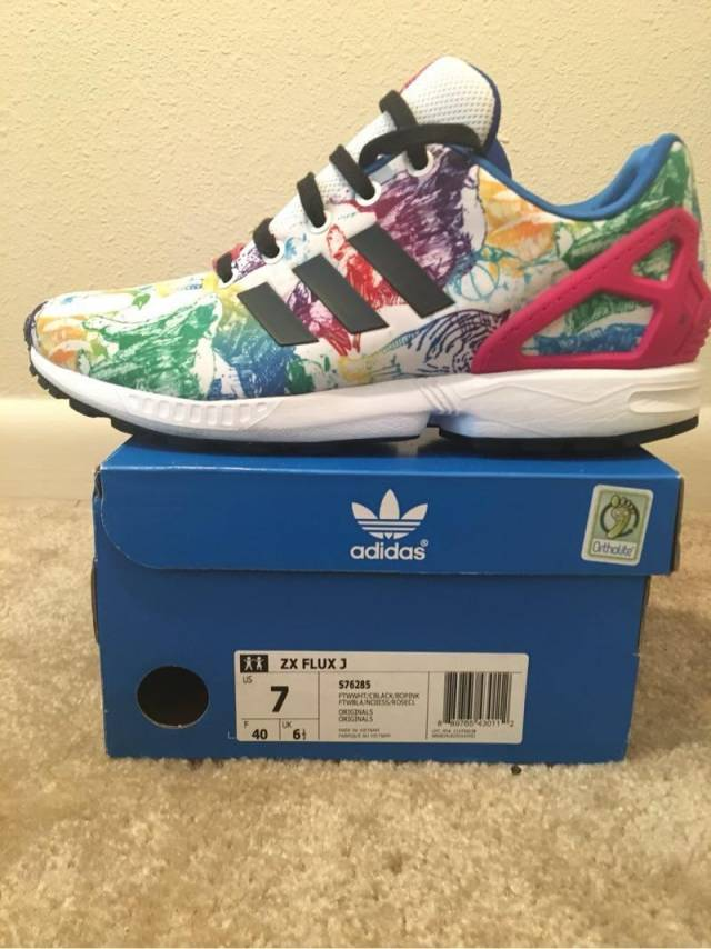 newest 8fb57 843d6 Adidas Originals Zx Flux Xeno Negative Pack Size 7