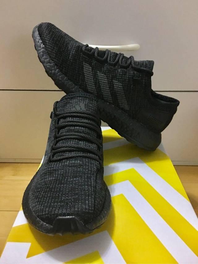 d717cd25852 Adidas Pure Boost LTD Triple Black Dark Grey S80702 M8.5US