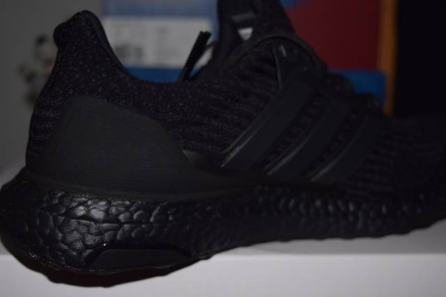 bcaaf03ccef UNRELEASED Adidas Ultra boost triple black 3.0 3D heel cup