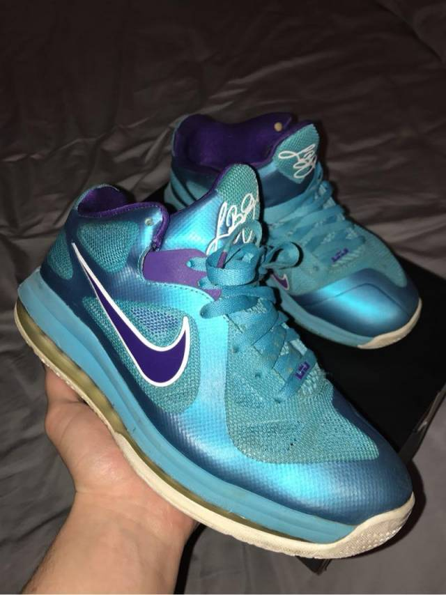 online retailer bf6a1 afbdb nike. lebron 9 summit lake hornets