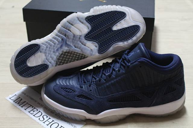 huge selection of 83742 ceab4 Nike air jordan 11 xi low ie obsidian white 919712-400 navy