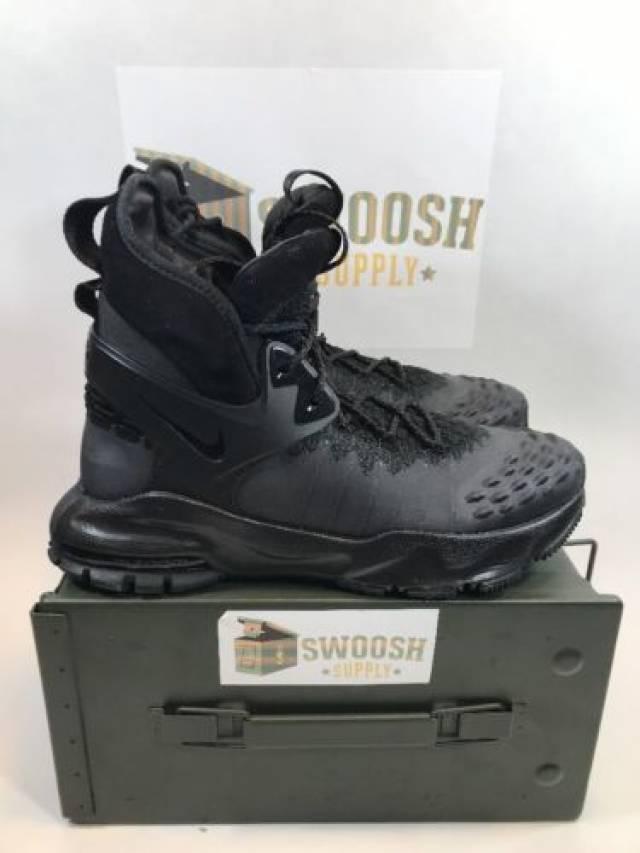 921318df5a41 NEW Nike Zoom Tallac Flyknit ACG TRIPLE BLACK 865947-001 sz 8.5 ...
