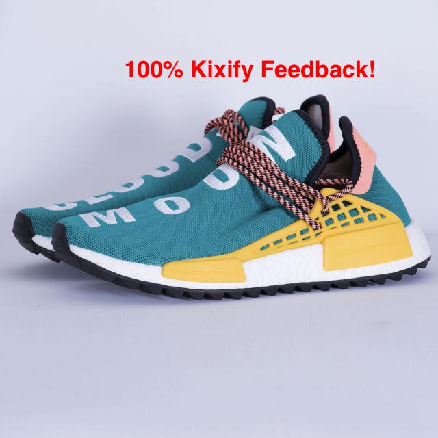 pharrell x adidas nmd hu pista sole bagliore verdastro kixify mercato
