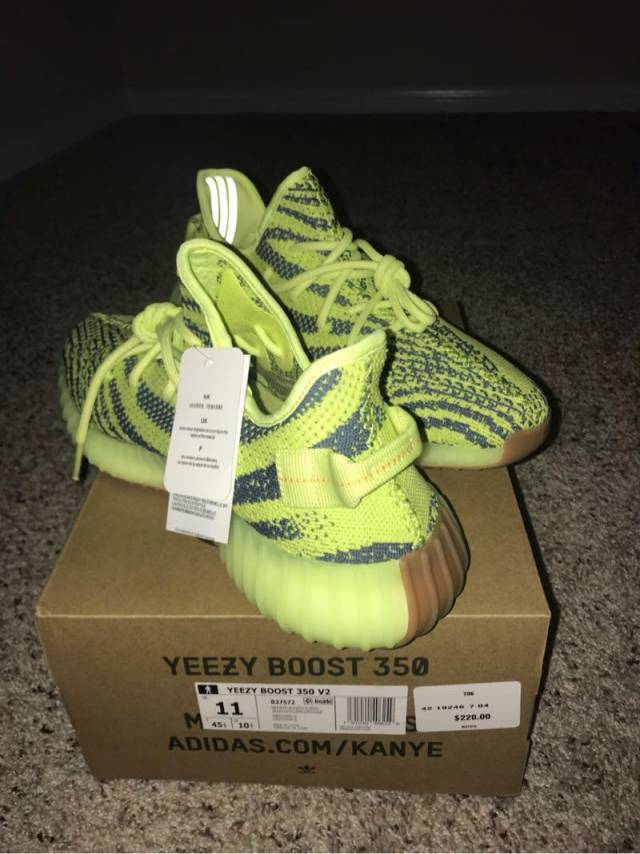 adidas yeezy boost 350 semi frozen yellow