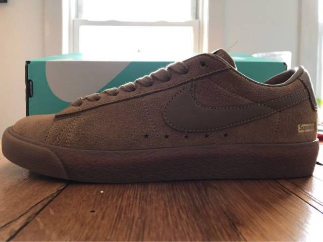 purchase cheap d4091 97835 Supreme x Nike SB Blazer Low GT Golden Beige