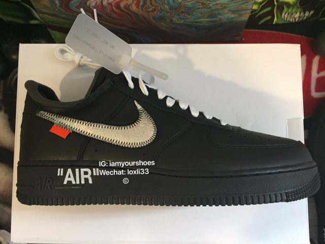 sale retailer 1d916 1fed3 Nike Off White X Moma X Air Force 1 07 Black SZ 10