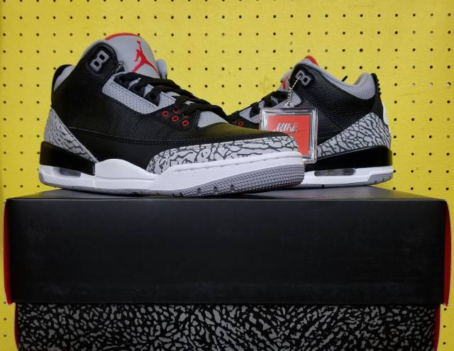 475647bb3069 BRAND NEW Men s Air Jordan 3 III Retro Black Cement 2018