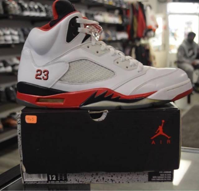 outlet store fe69d e0519 Jordan 5 Og Fire Red Pre Owned