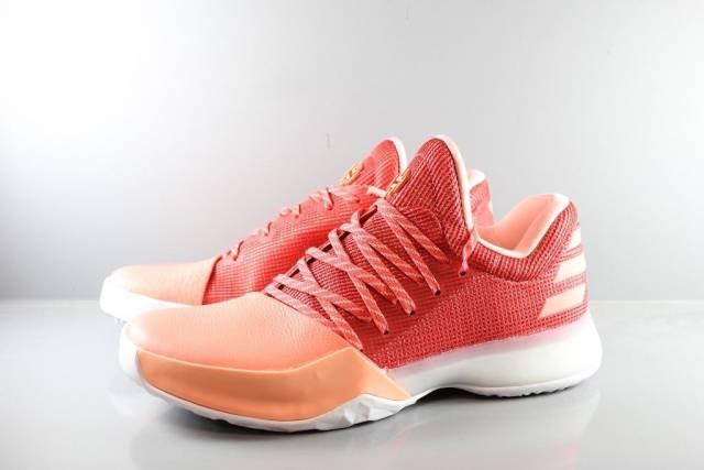 2656c461627 1 chalk coral scarlet two-tone men basketball shoes ah2119 adidas Harden Vol .1 Basketball shoes Coral Art. AH2119 ...