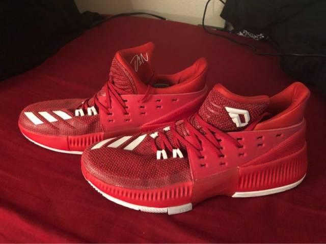 best website 3d96c 1ab30 Adidas Mens Dame 3 Basketball Shoes