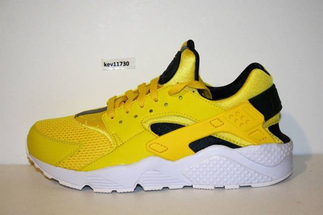 nike huarache yellow and black