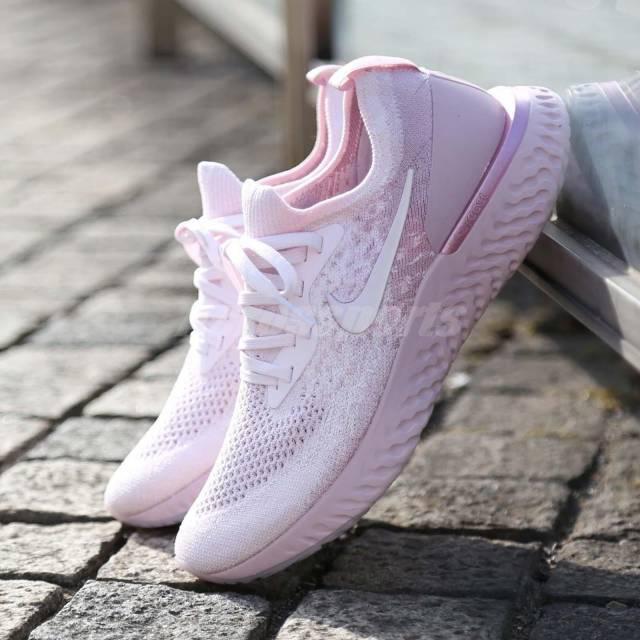 Nike Wmns Epic React Flyknit Pearl Pink Matcha Women Running Shoes AQ0070600