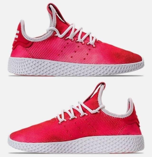 adidas originals pharrell williams tennis hu jungs casual scarlet.