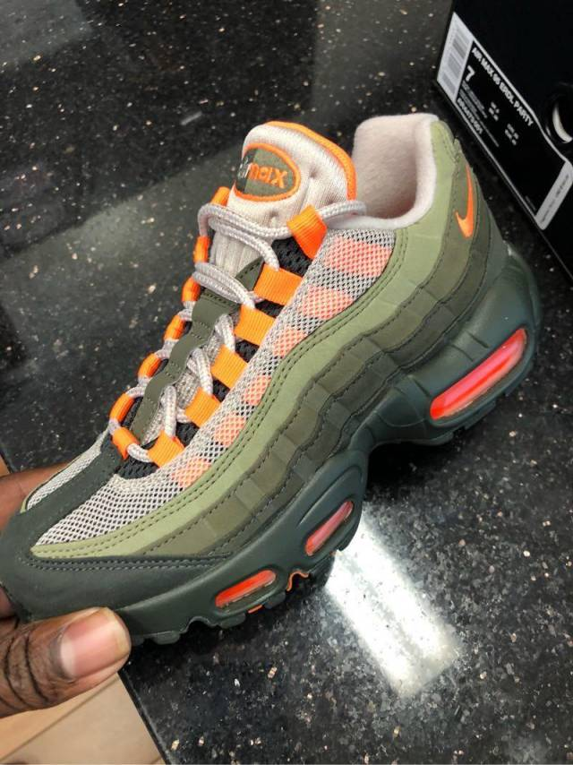 separation shoes ba004 18468 Nike Air Max 95 String Total Orange  Kixify Marketplace