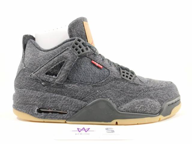 c69b6cc290b3a2 AIR JORDAN 4 RETRO LEVIS NRG BLACK SZ 10 AO2571-001 NEW DS