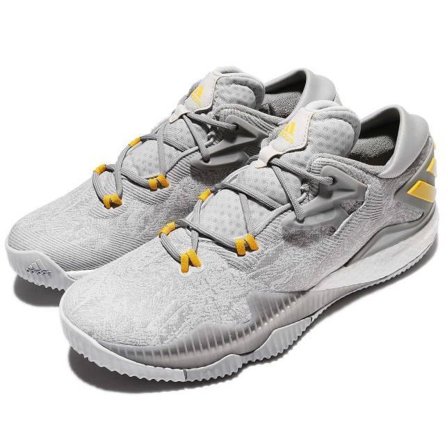 Adidas crazylight slancio basso 2016 grey giallo oro uomini basket