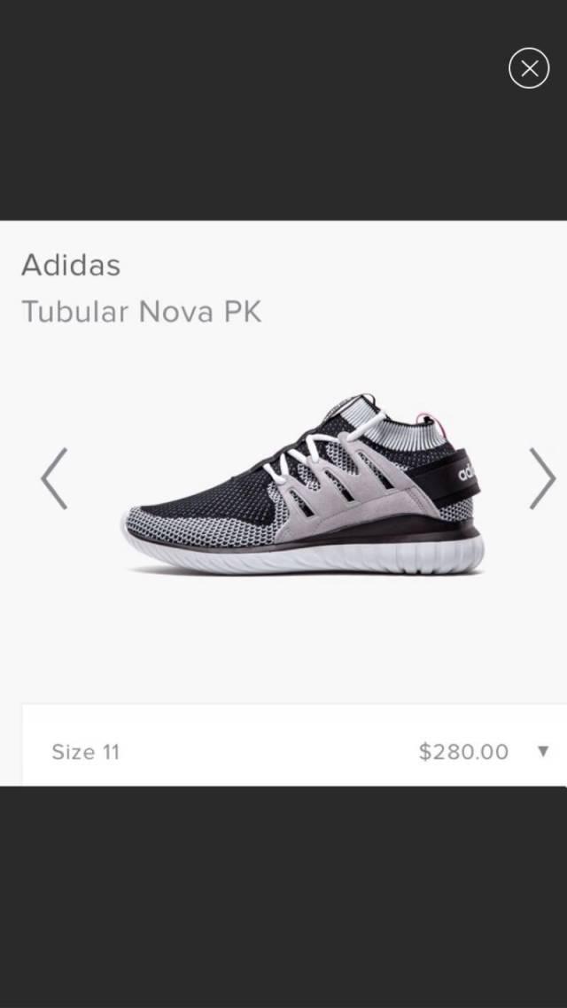 Adidas Tubular Nova PK Black White