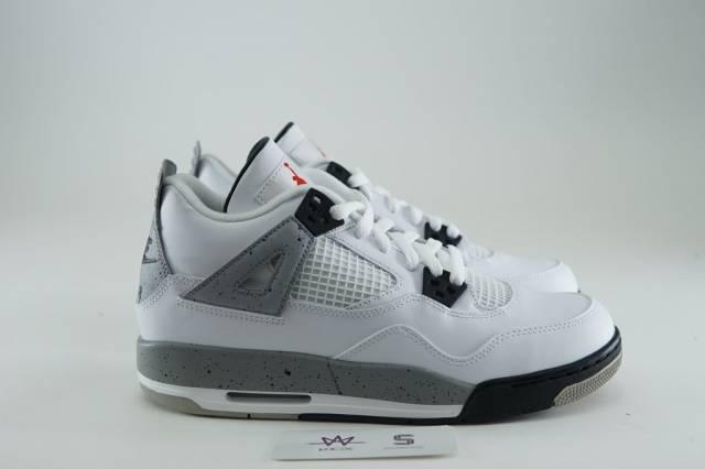 4a8da820ae3 Air Jordan 4 Og 89 Gs White Cement