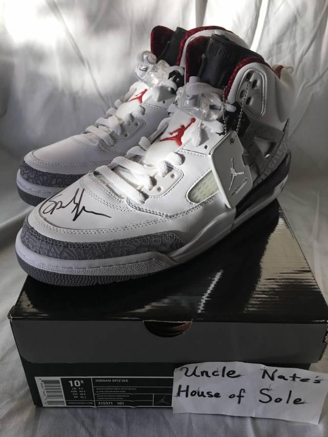 SIGNED Air Jordan Spizikes, Spike Lee