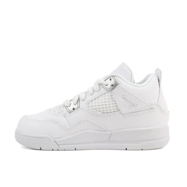 the latest 9bac2 23d1a Nike Air Jordan Retro 4 Pure Money White 308499-100