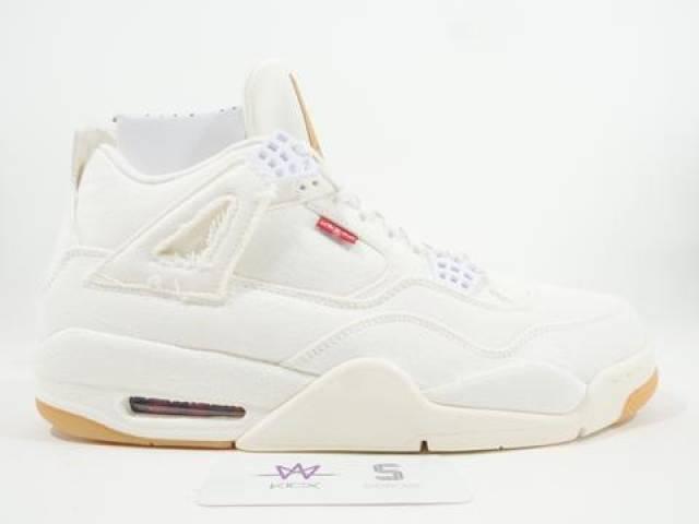 best loved 7547e c2254 Levi's X Air Jordan 4 White Denim
