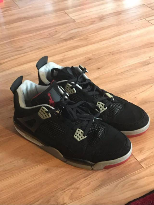 official photos 0fa01 63444 Jordan 4 Bred 2008 (black Cement)
