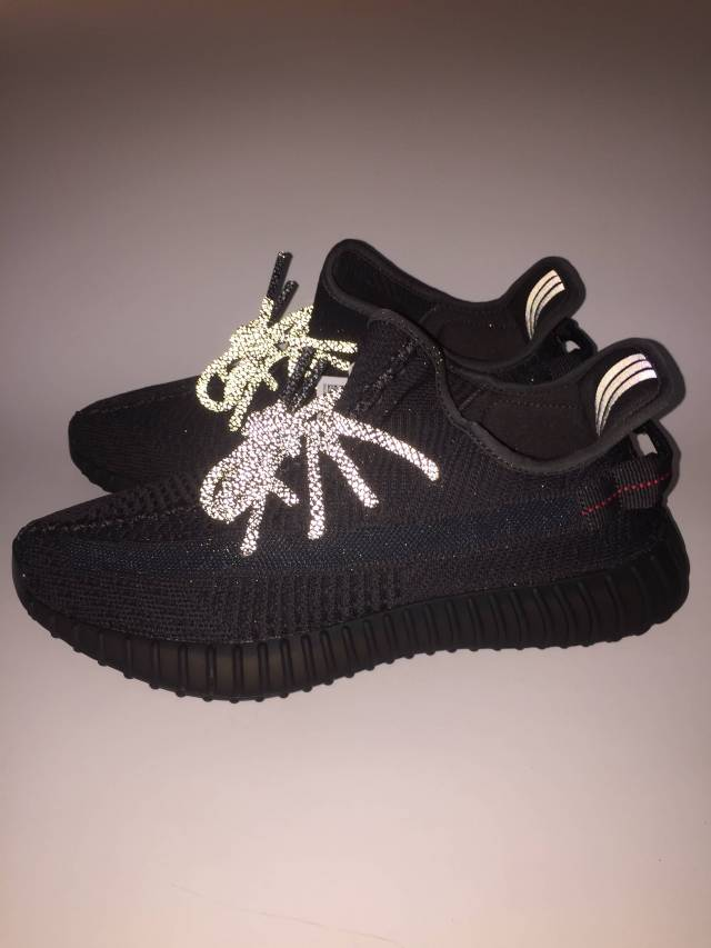 100% authentic 899cc 20b41 Adidas Yeezy Boost 350 V2 Black Non Reflective