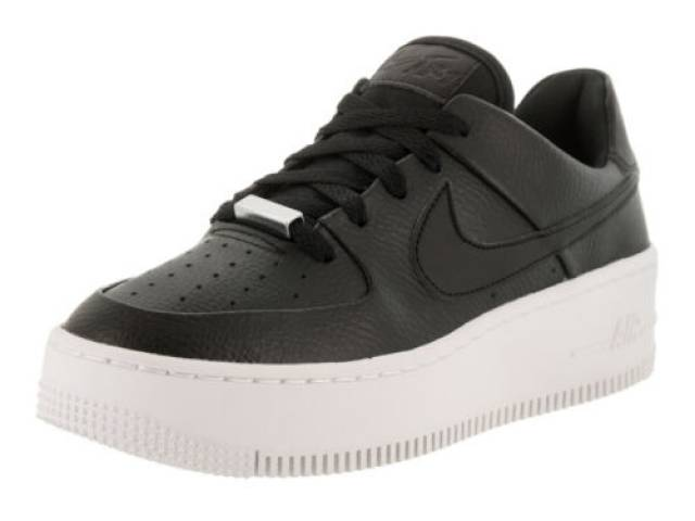 promo code 8fd47 84732 Nike Wmns Air Force 1 Sage Low Black White