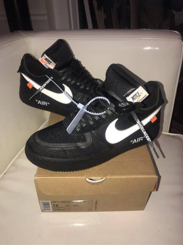 Off White X Nike Air Force 1 Black Kixify Marketplace