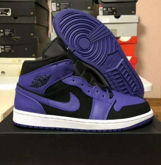 Nike Air Jordan 1 Mid Black Dark Concord Men S 12 Kixify Marketplace