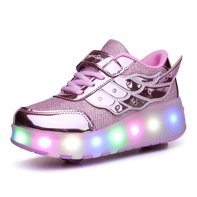 Usb Charging Led Roller Shoes Girls Roller Skate Shoes Kixify Marketplace