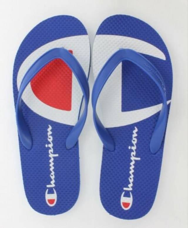 Split Logo Blue Flip Flops