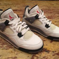 Air jordan retro 4 white/black...