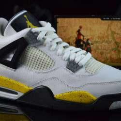 Air jordan 4 ls - tour yellow ...