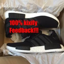 Adidas nmd r1 core black mesh ...
