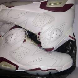 Nike air jordan retro 6 maroon