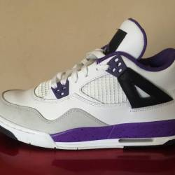 Black white purple 4s (size 7y)