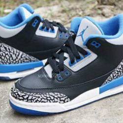 Air jordan 3 retro sport blue ...