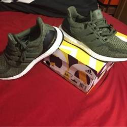 Adidas ultra boost olive green