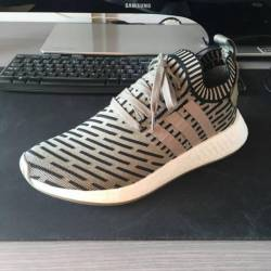 adidas Originals NMD R2 Primeknit Trainer Clear Granite / Vintage