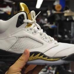 Jordan 5 olympic gold size 10 ...