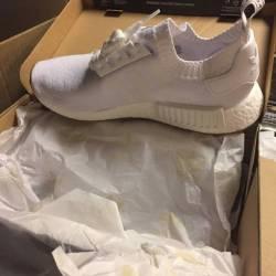 Adidas nmd r1 white gum - size 10